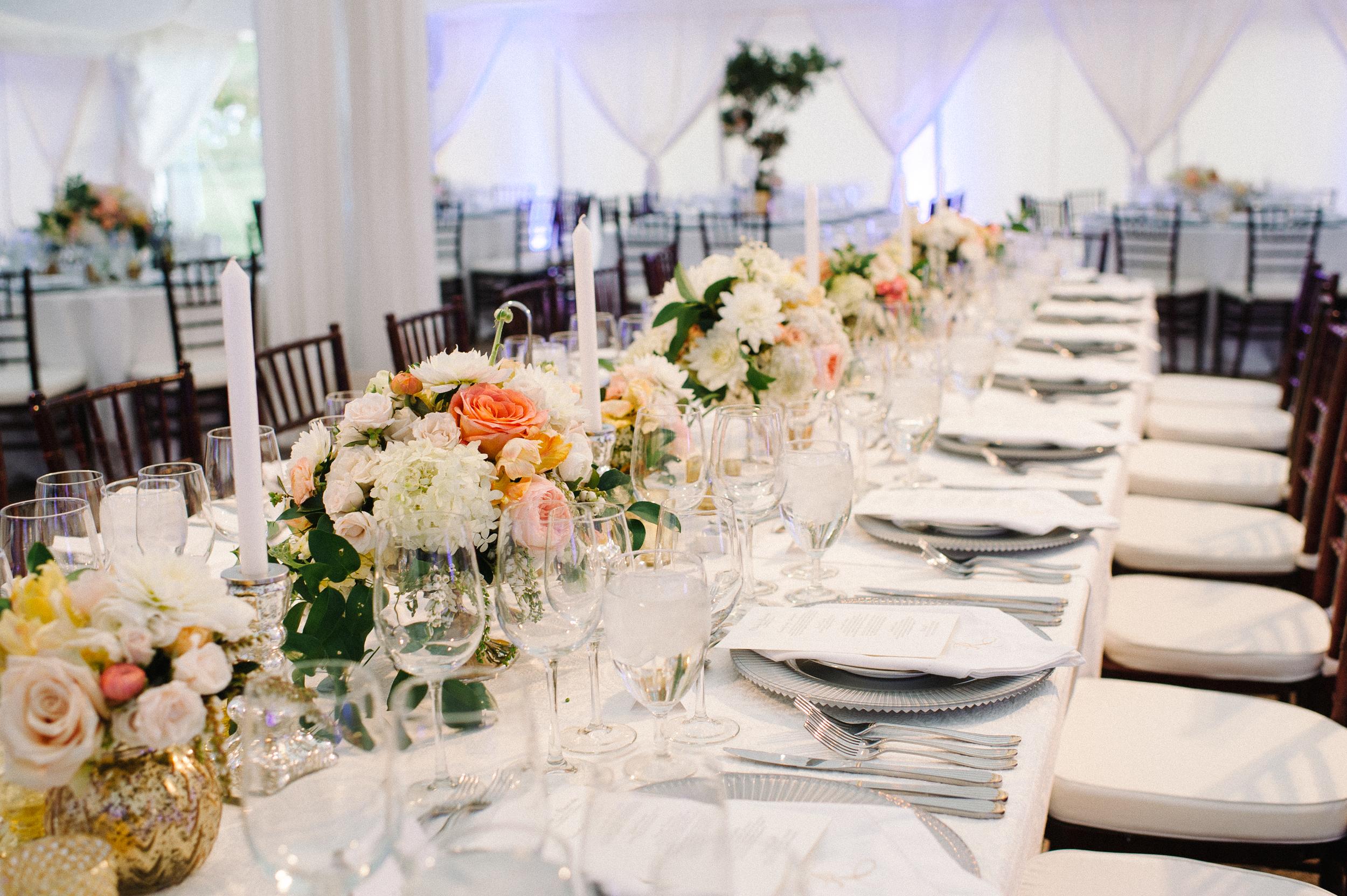 Vintage themed wedding reception