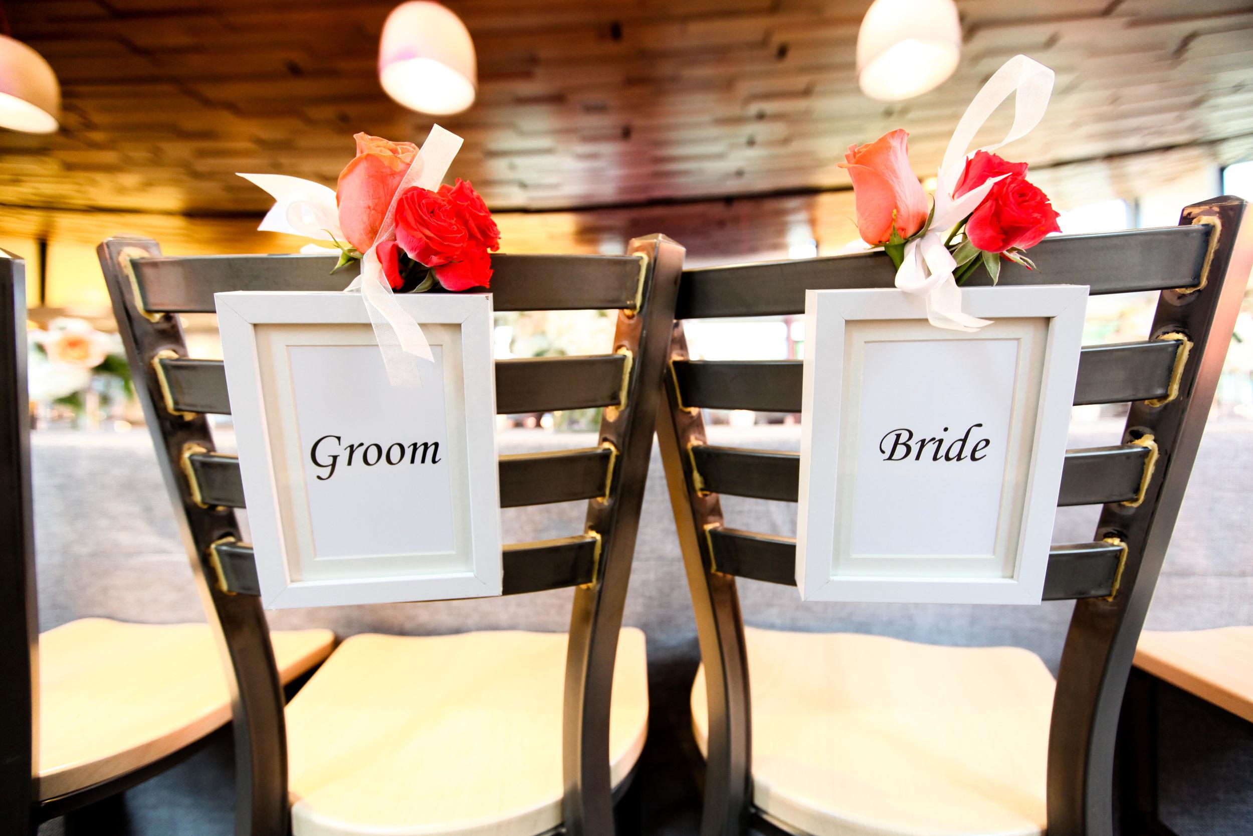 Groom & Bride Chair Signs