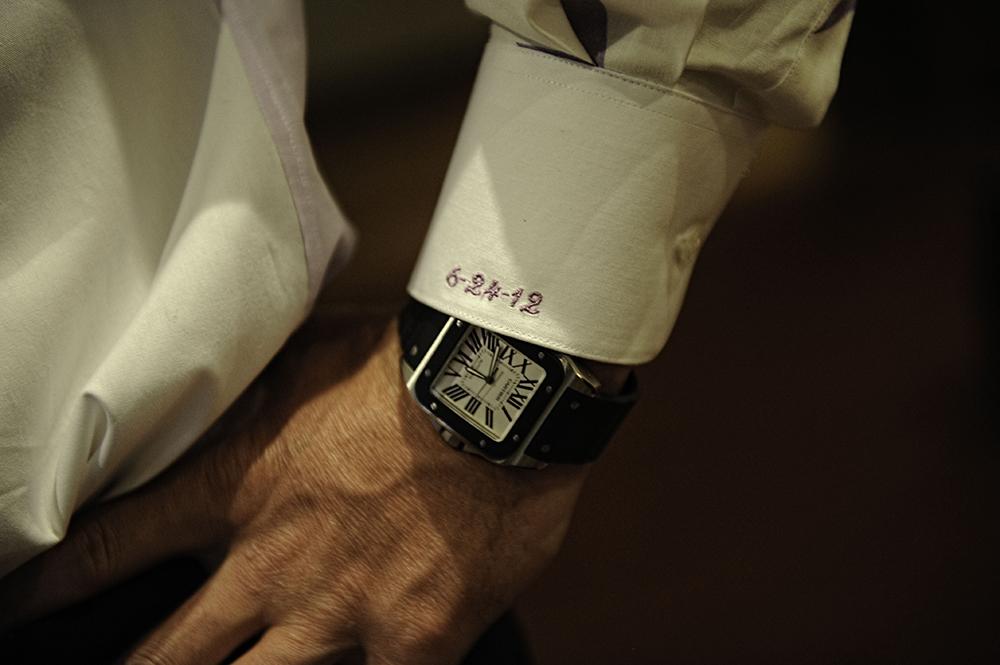 Embroidered Tuxedo Cuff