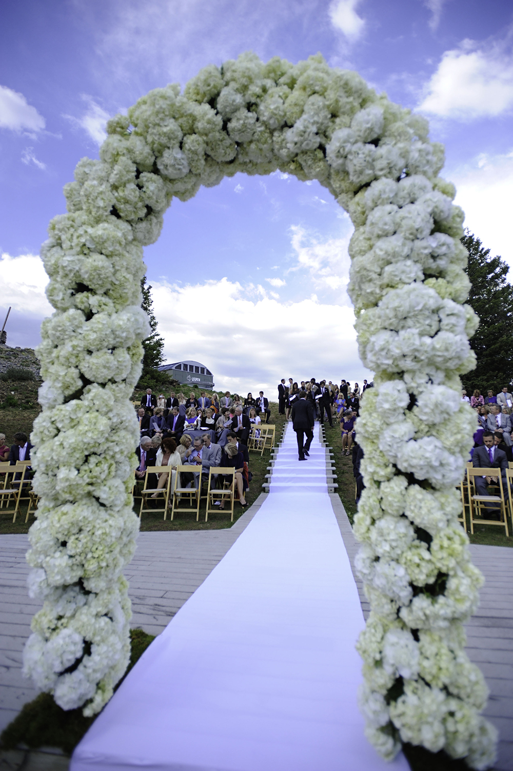 Flower Alter at Aspen Mountain Wedding