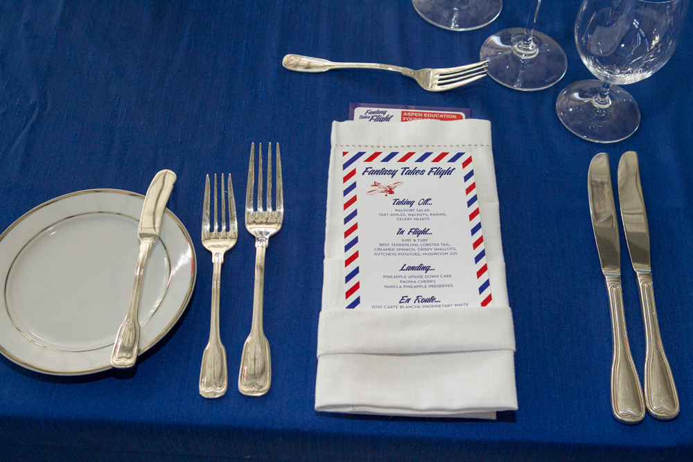 Aspen Education Fund Dinner Place Setting