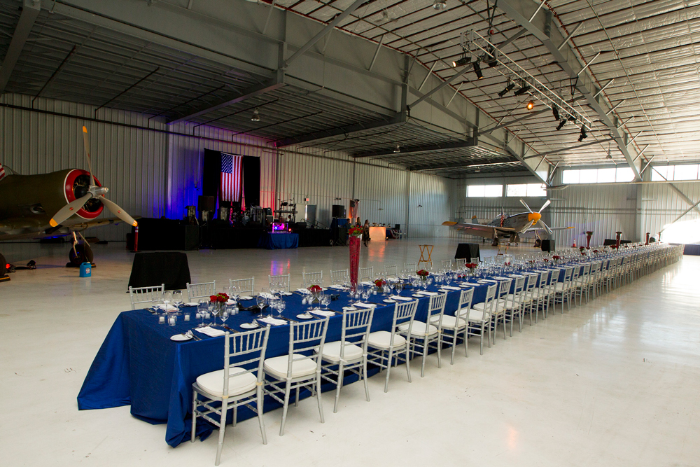 Airport Hanger Dinner Event