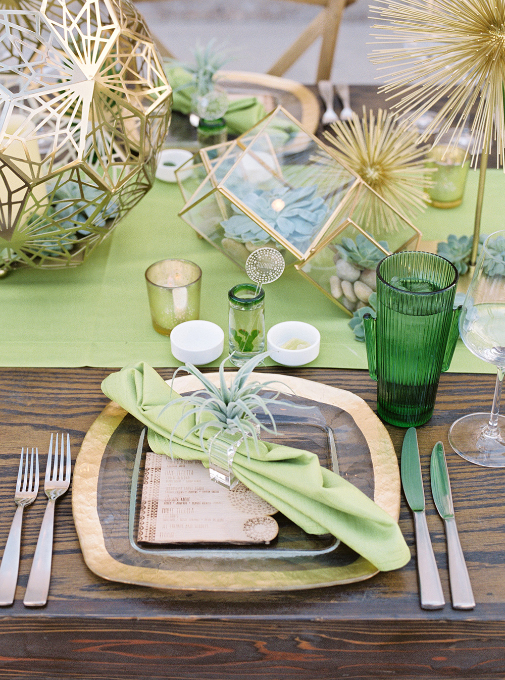 desert themed table setting