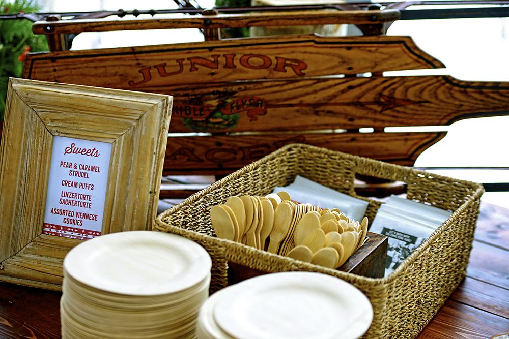Wood utensils display