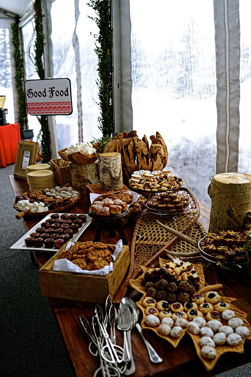 Assorted dessert table