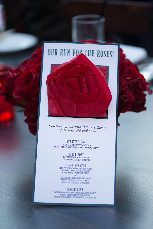 Rose Menu Card