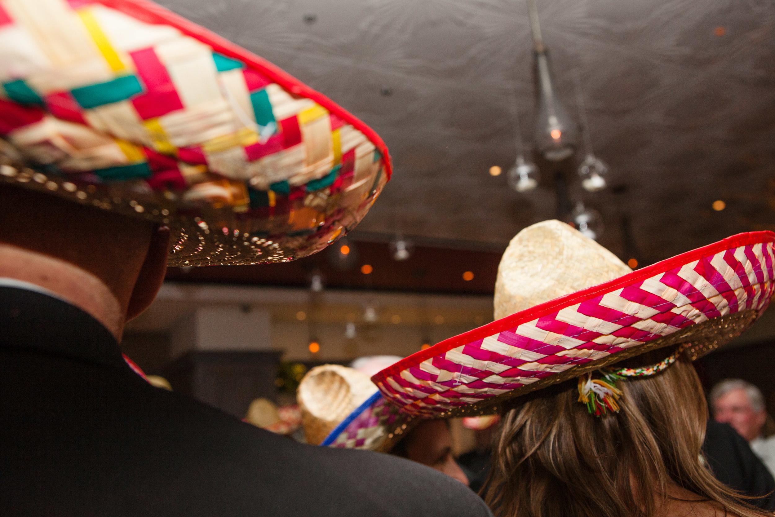Guests Wearing Sombreros