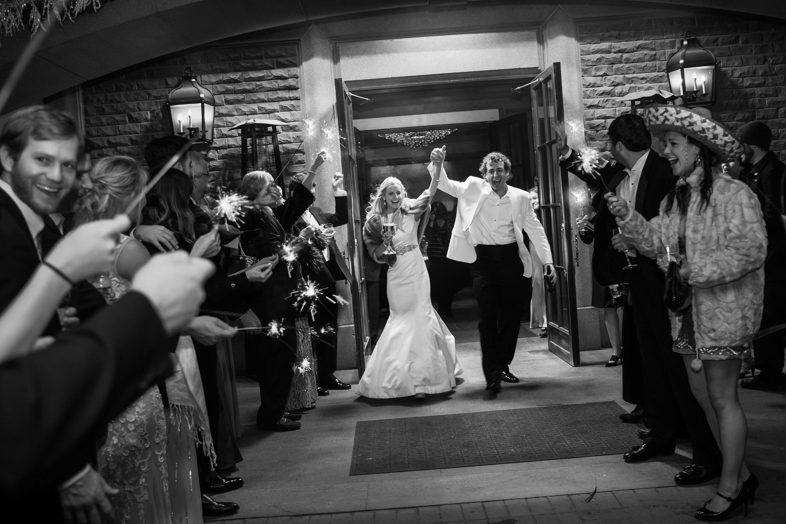 Bride & Groom Leaving Reception