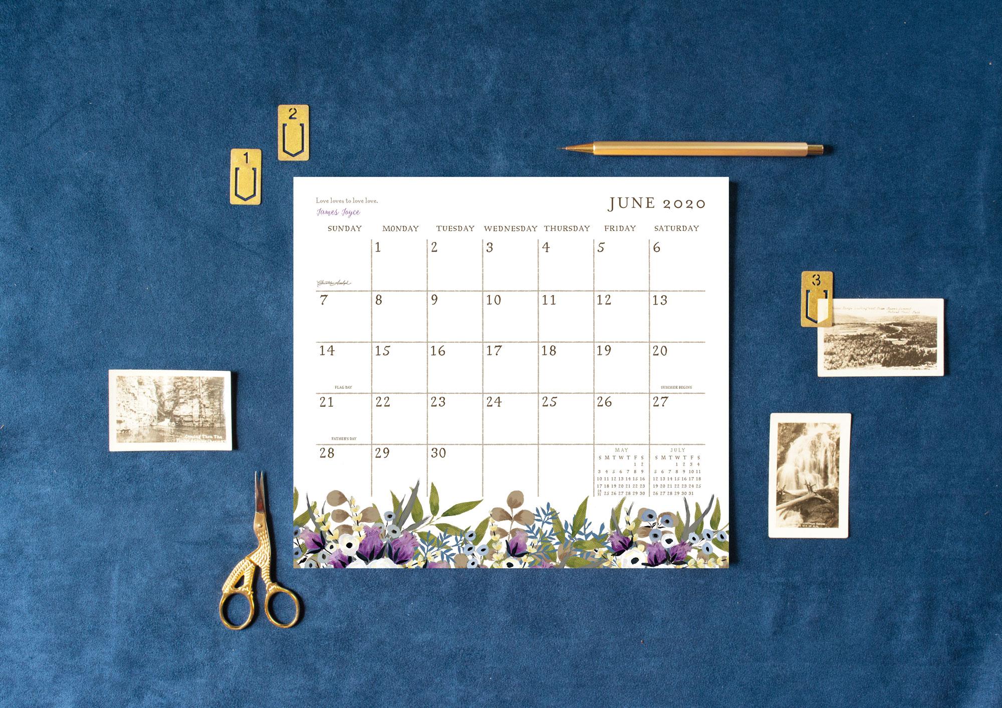 Legacy Live Simply Magnetic Calendar Pad — Design  Artwork: Christine Adolph | Photography: Shanleigh Heelan