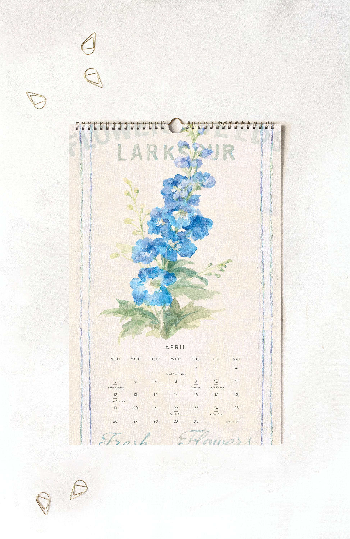 Legacy Farmhouse Fresh Large Wall Calendar — Product Development/Design  Artwork: Danhui Nai | Photography: Shanleigh Heelan