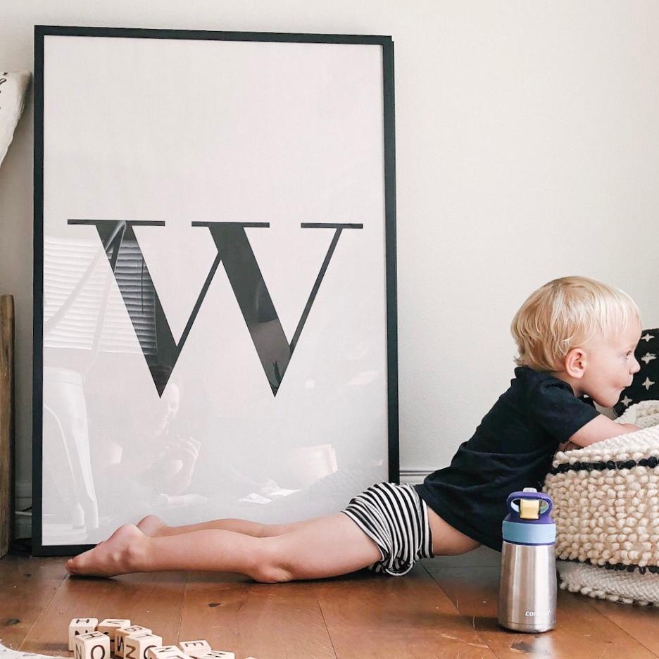 modern bohemian home large letter print.JPG