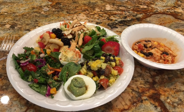 Healthy food is always a visual delight! The food everyone brought was great!