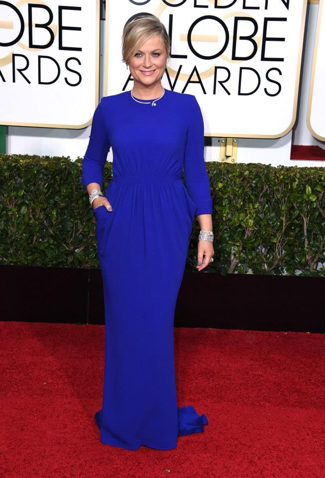 Amy Poehler in Stella McCartney at the 2015 Golden Globes