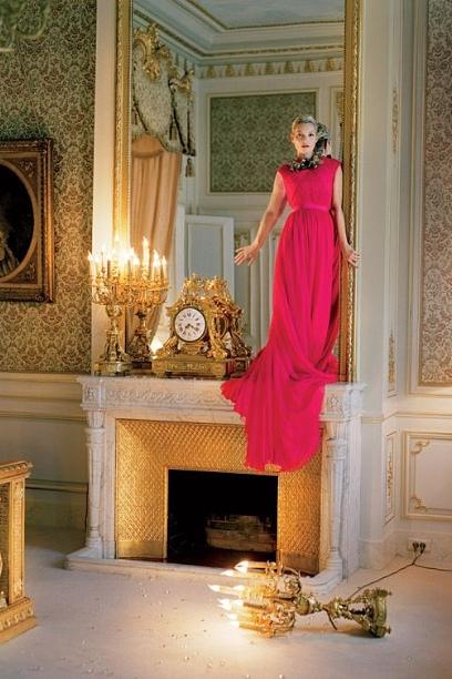 Kate Moss in Giambattista Valli for Vogue   2012