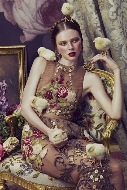 Photograph: Andrew Yee for How to Spend It Magazine 2012- model wearing Valentino