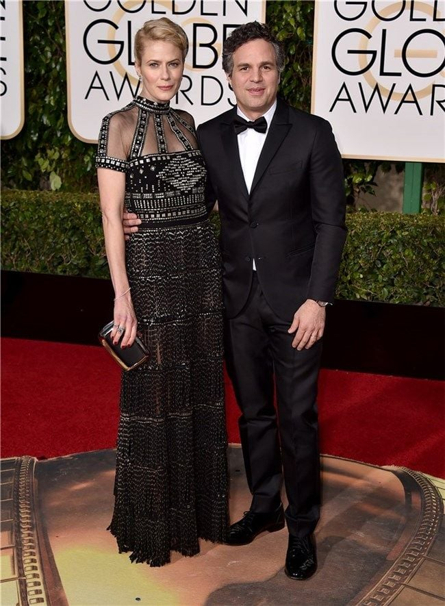 Sunrise Coigney & Mark Ruffalo both in Valentino