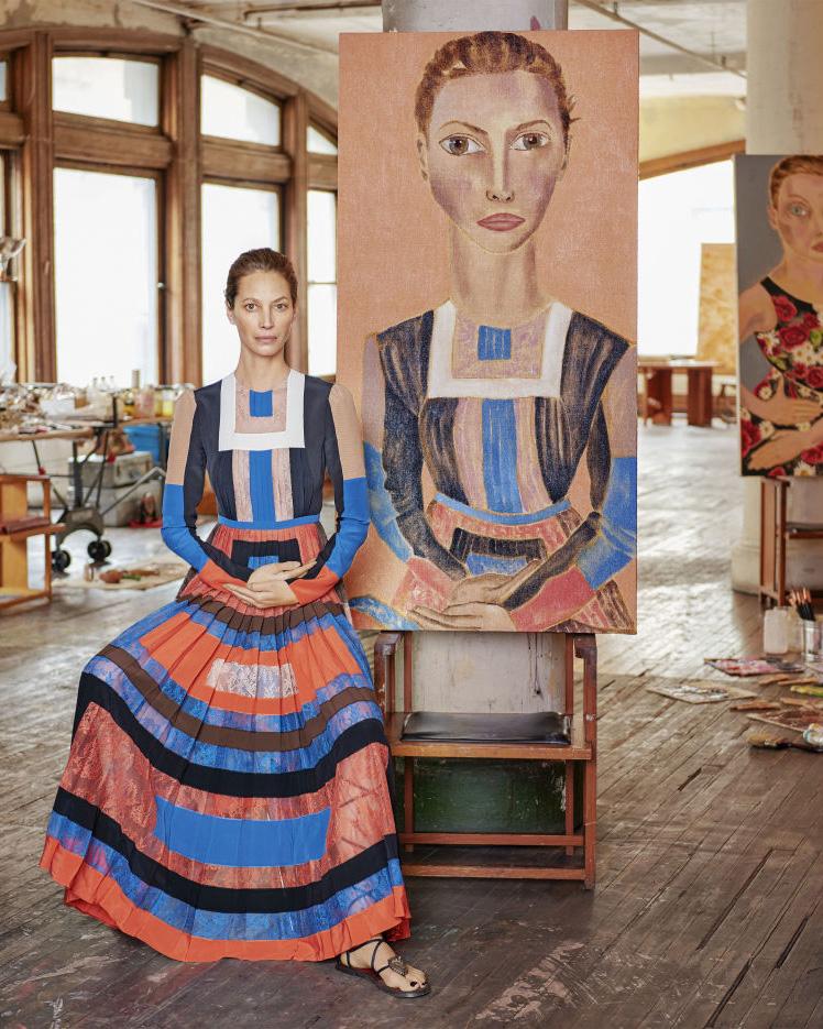Christy Turlington wears Valentino SS16 for Harpers Bazaar - photo: Jason Schmidt