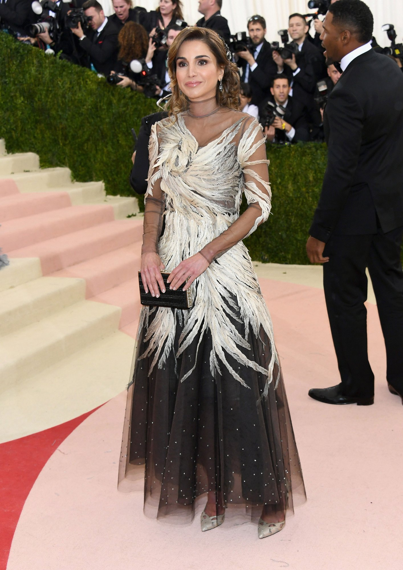 Queen Raina of Jordan in Valentino