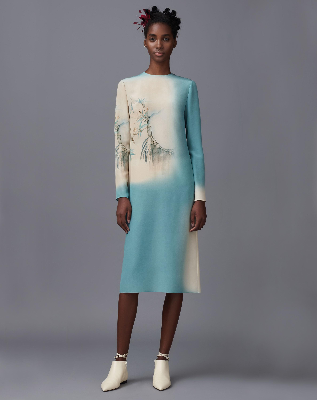 Kimono print dress - In Store
