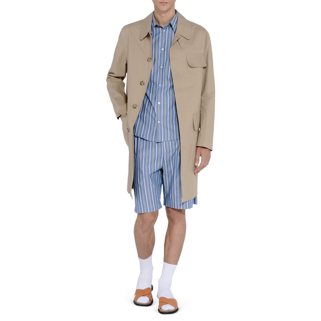 Classic trench and pinstripe shirt in store!