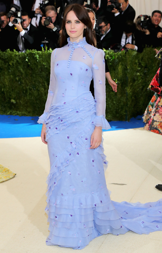 Felicity Jones in Erdem