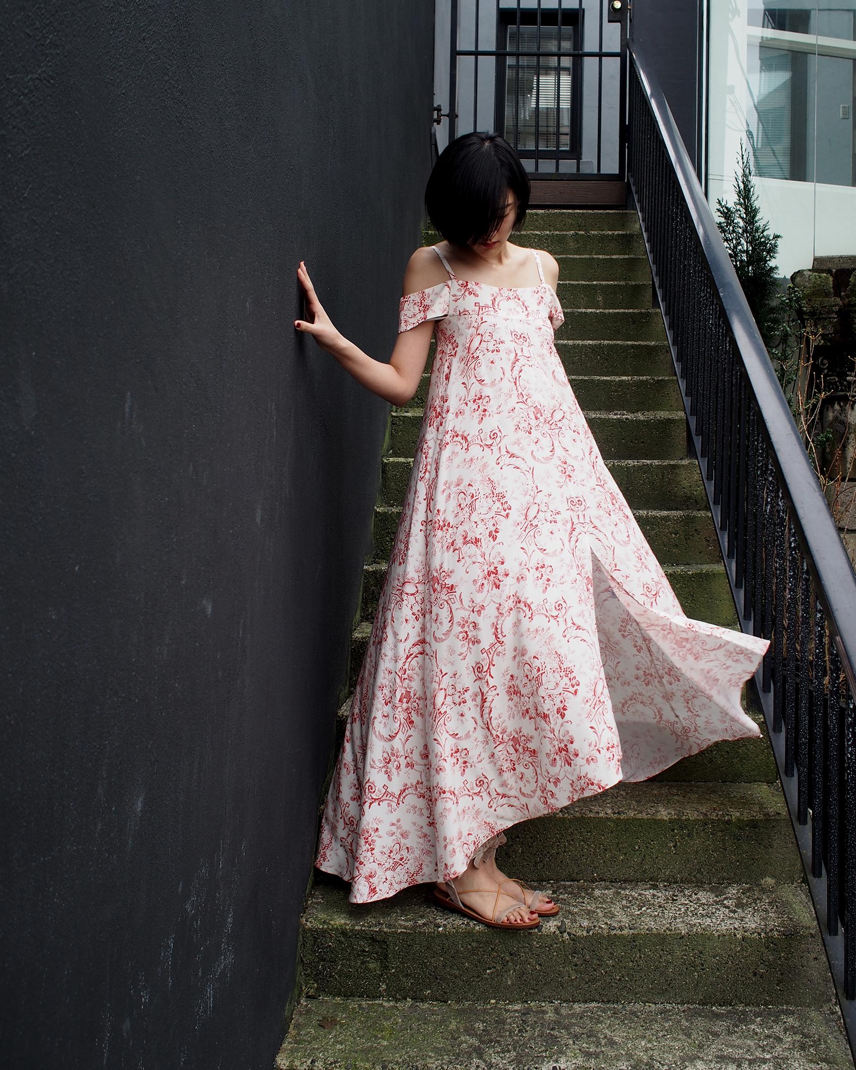 Vilshenko dress with Valentino sandals.