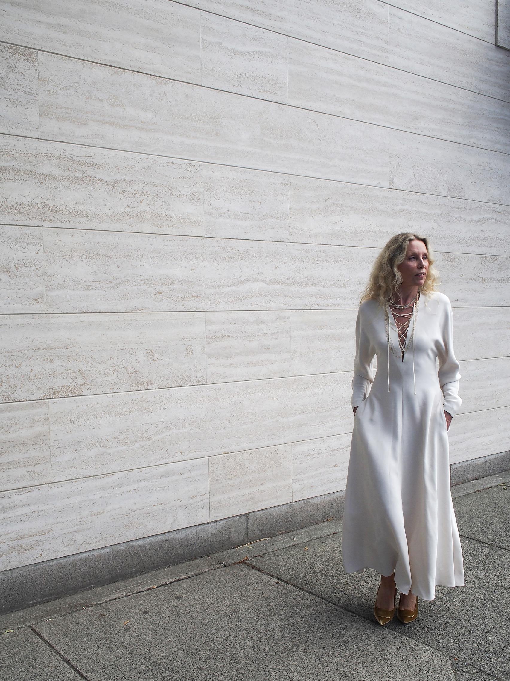 dress: Stella McCartney // jewellery: Liselott Montesano // shoes: Rupert Sanderson