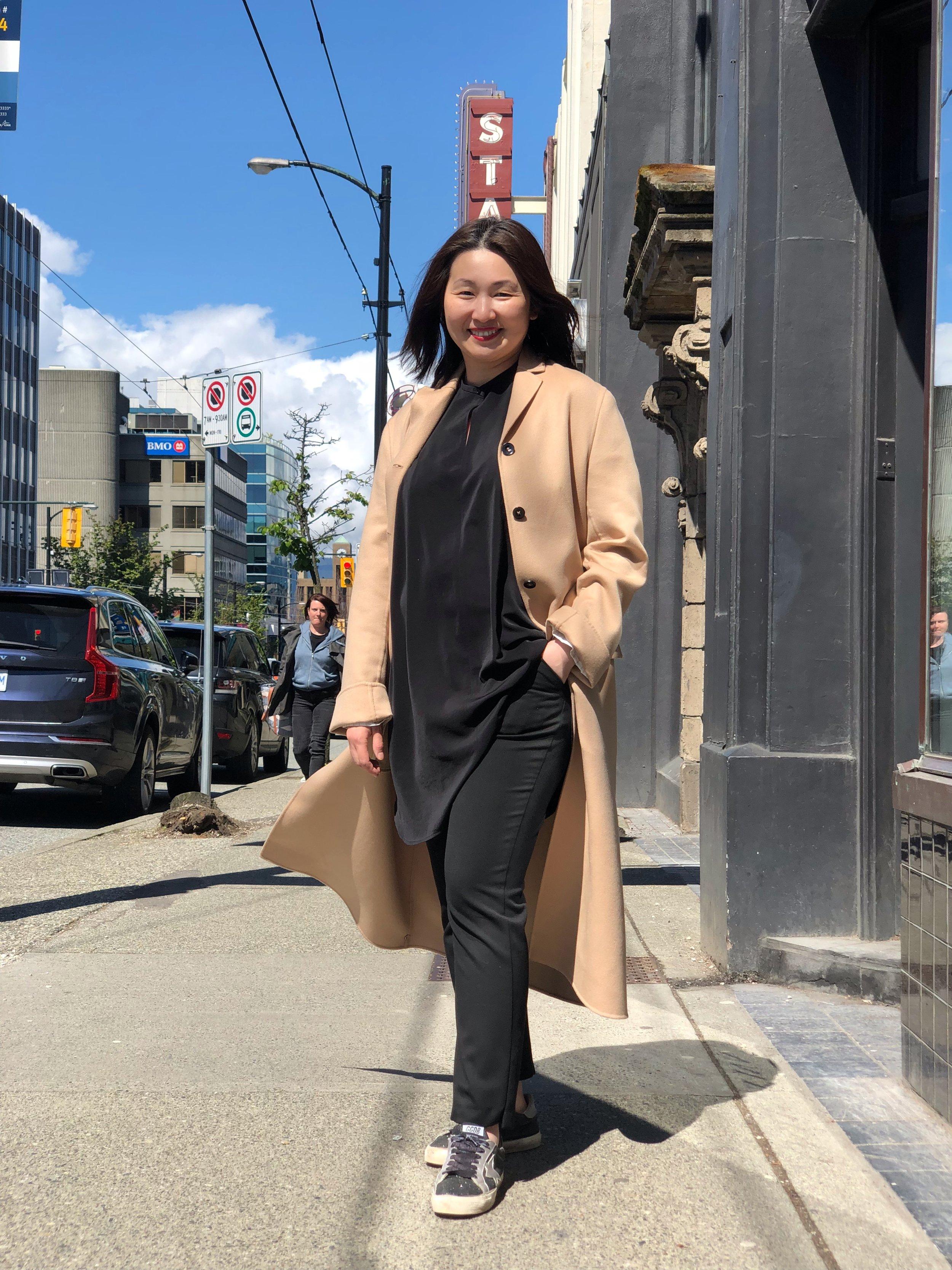 Michelles' first favorite item is this Jil Sander coat.
