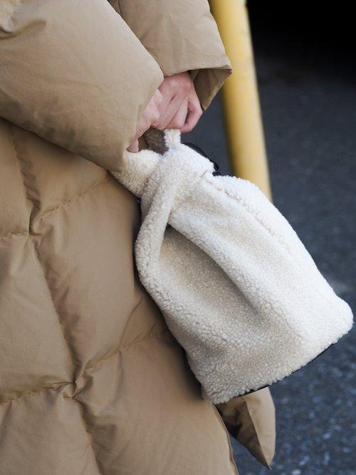 Jil Sander bucket bag.