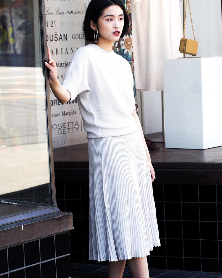 Knit dress by Loro Piana.