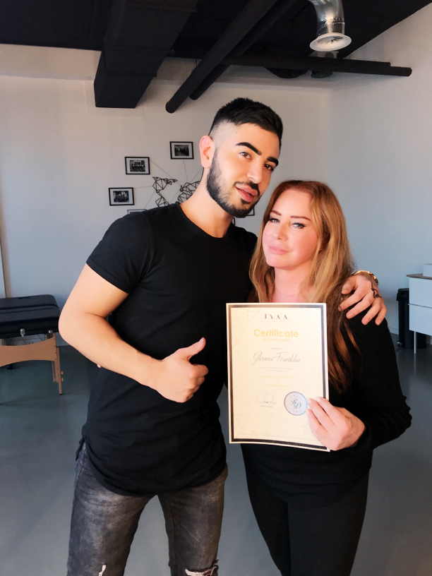Certification with Rusen Donmez in ombrḗ & combination brows @DAA the Hague, Netherlands