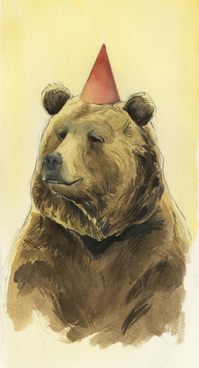 Tribute piece to  I Want My Hat Back  by Jon Klassen