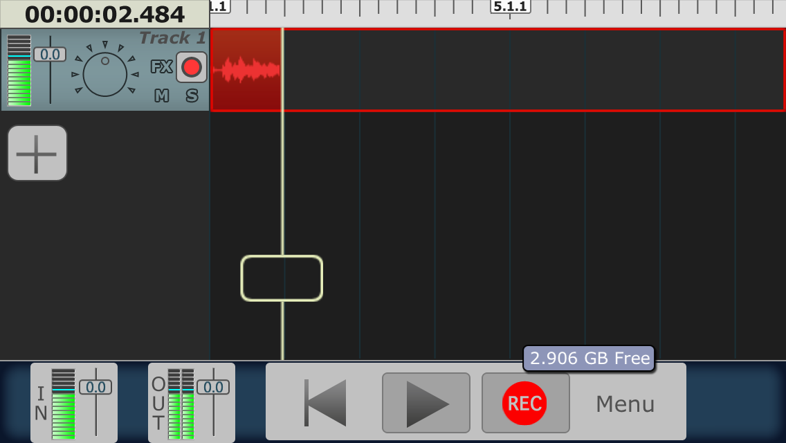 Your audio levels are visible in the audio meter at the top left of this photo.