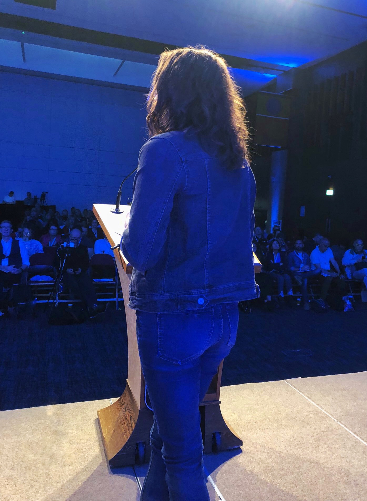Photo from the stage, by Sarah Jones @virtuallysarahj