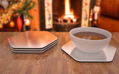 "INTRODUCING THE REVOLUTIONARY DISH AND PLATE PLACE MATS THAT KEEP YOUR FOOD AT THE ""IDEAL"" EATING TEMPERATURE"