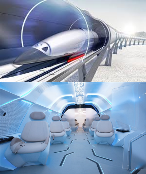 Hyperloop - A Hyperloop is a proposed mode of passenger and/or freight transportation is a proposed mode of passenger and/or freight transportation, first used to describe an open-source vactrain design released by a joint team from Tesla and SpaceX.[1] Drawing heavily from Robert Goddard's vactrain, a hyperloop is a sealed tube or system of tubes through which a pod may travel free of air resistance or friction conveying people or objects at high speed while being very efficient.Read more at: C|net