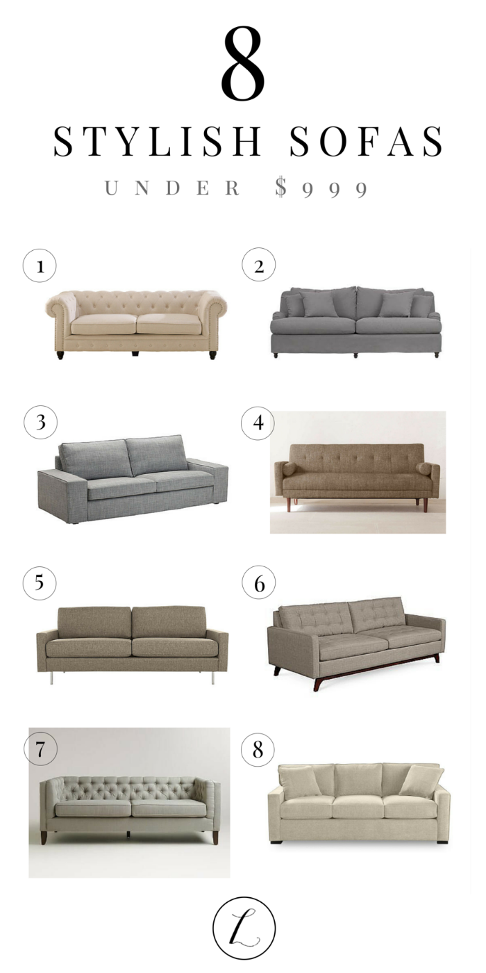 8 Stylish Affordable Sofas