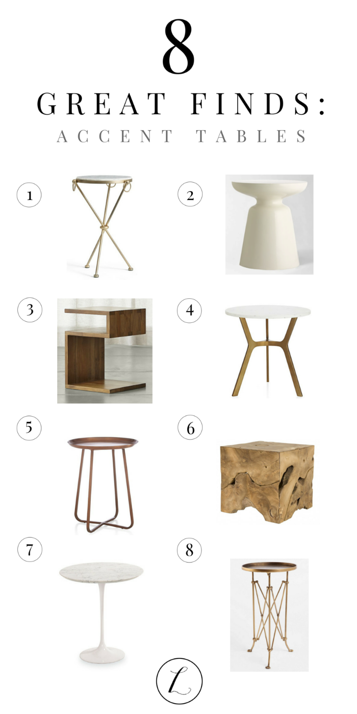cool accent tables