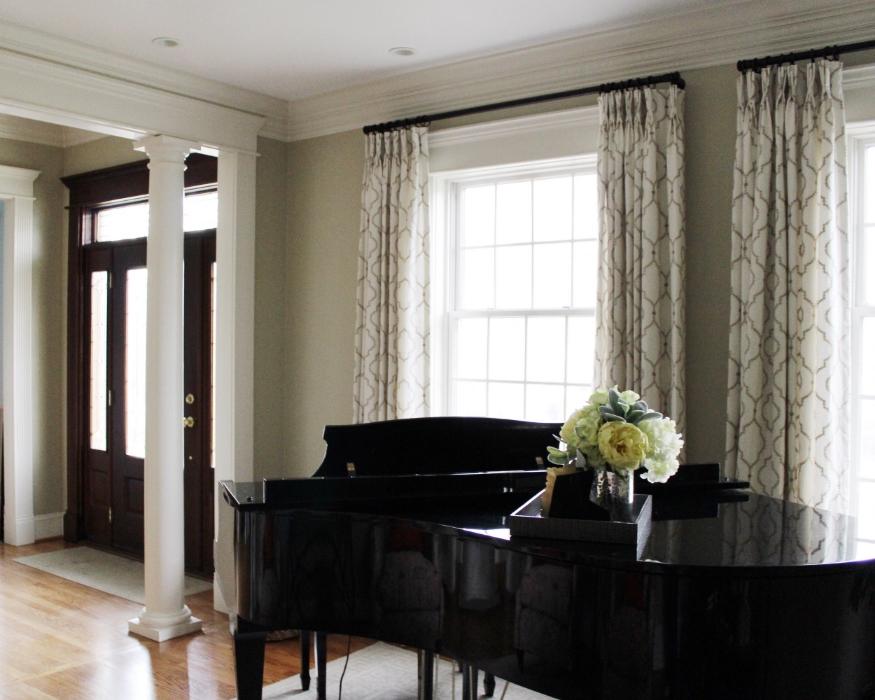 Traditional Piano Room Interior Design Chicago