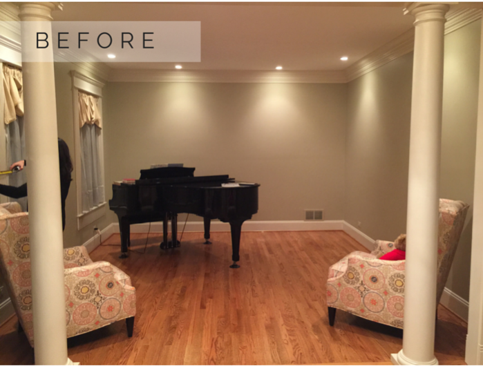 Piano Room BEFORE