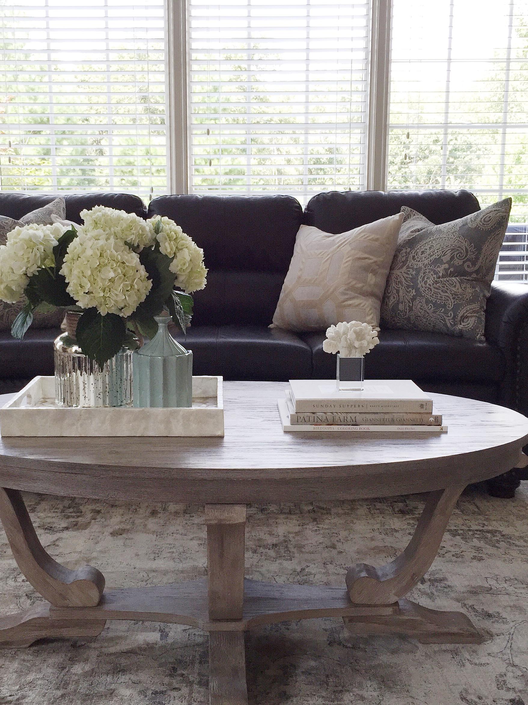 Coastal Living Room Styling- Laura Design Company