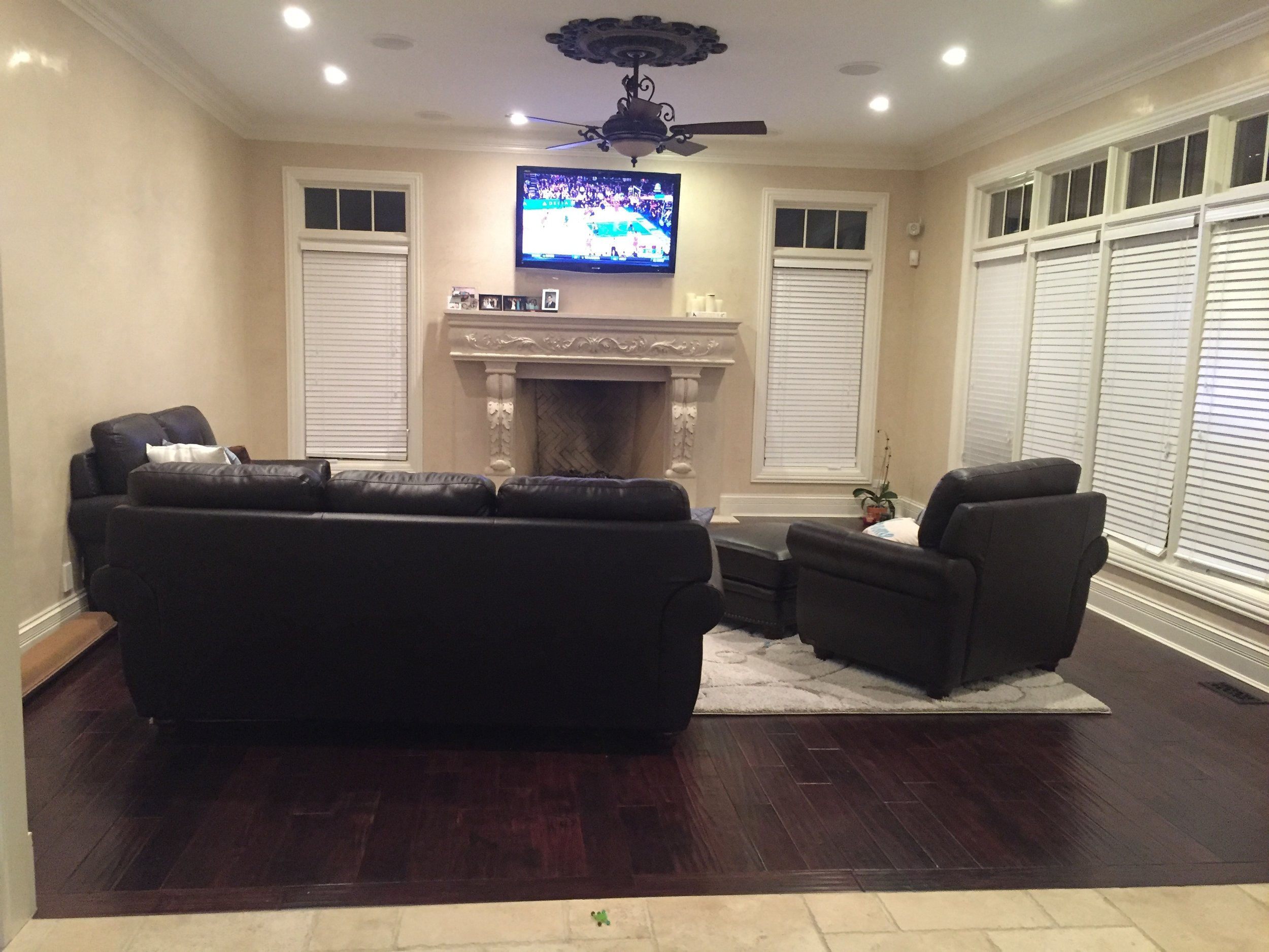 BEFORE- Help for a Dark Living Room