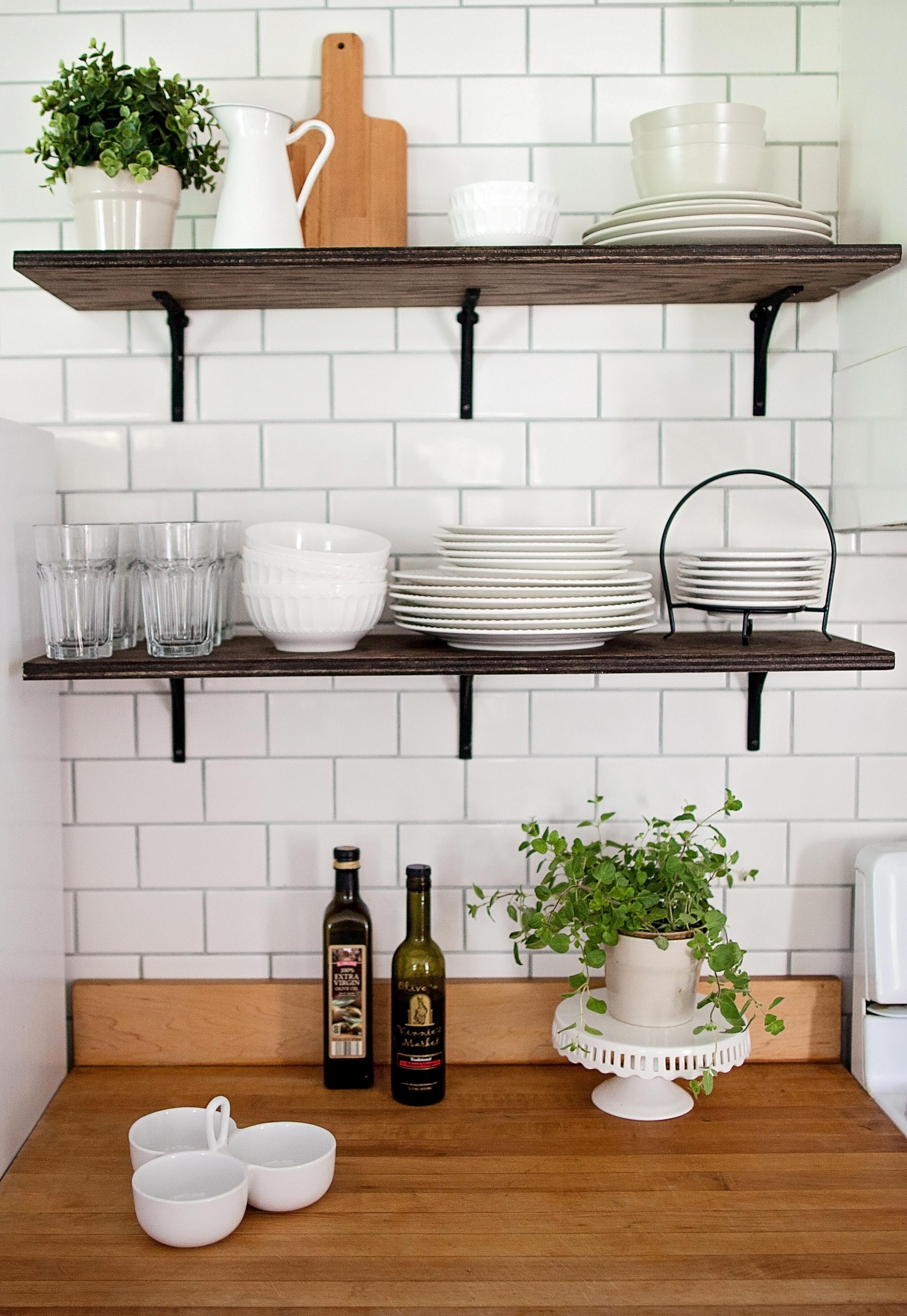Farmhouse Kitchen Open Shelving- Laura Design Co.