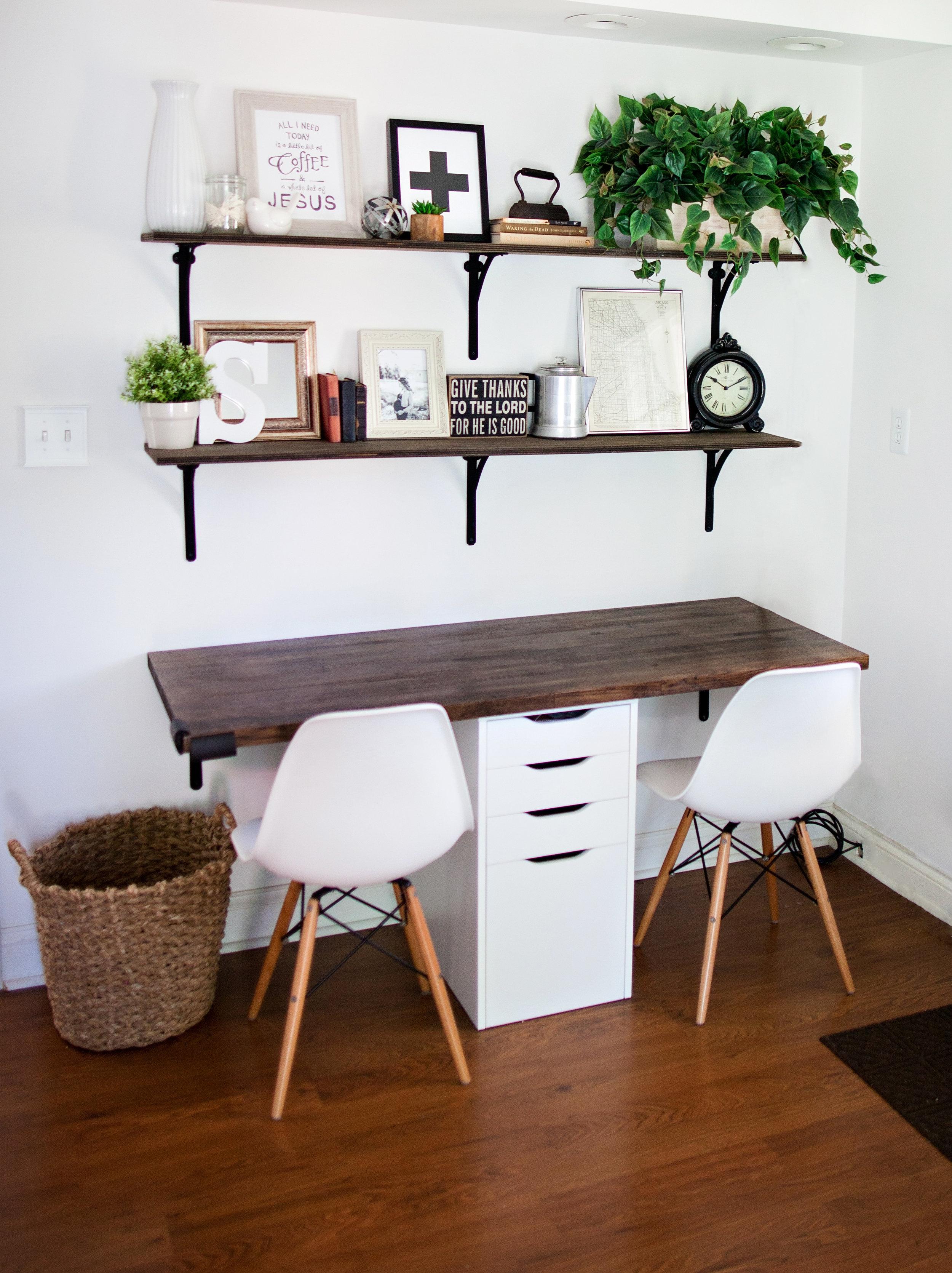 Farmhouse Kitchen Office Nook- Laura Design Co.