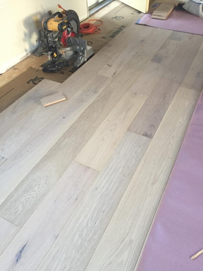Start of the new wood floors!