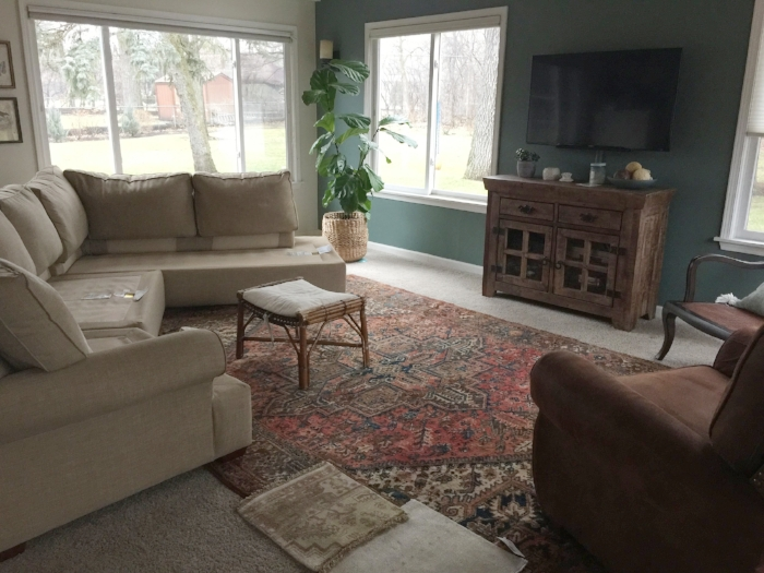 Before Photos, One Room Challenge