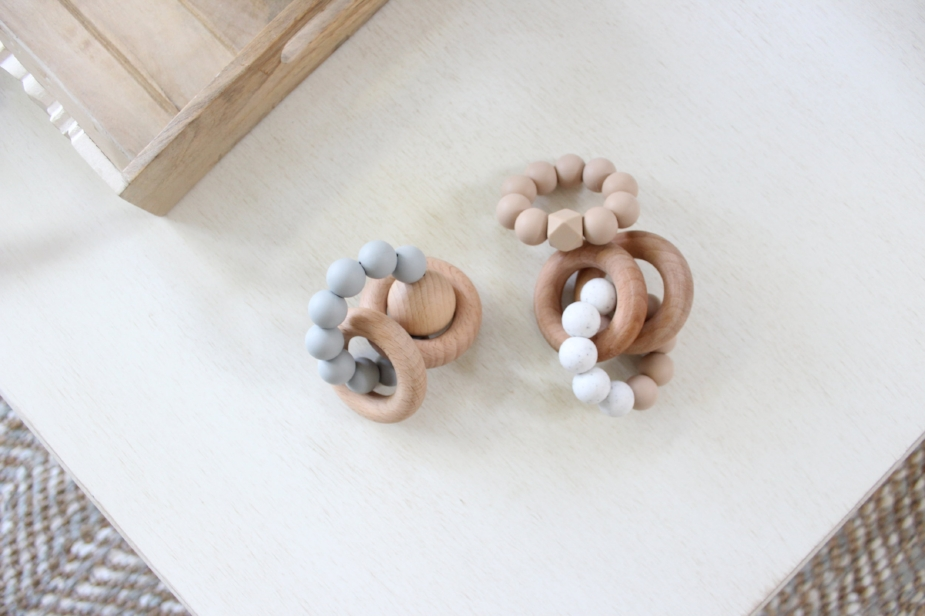 Hipster baby teething rings by Otherware - Design & styling by Laura Design Co.