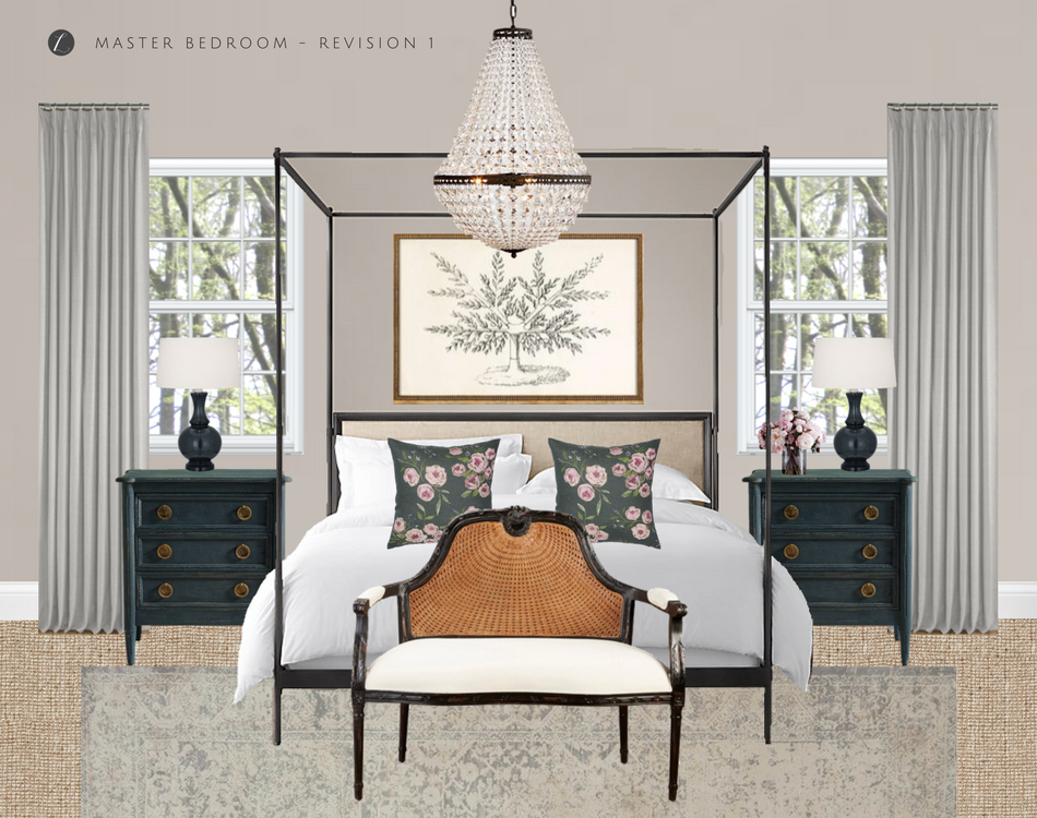 Master Bedroom Moodboard - Interior Design by Laura Design Co.