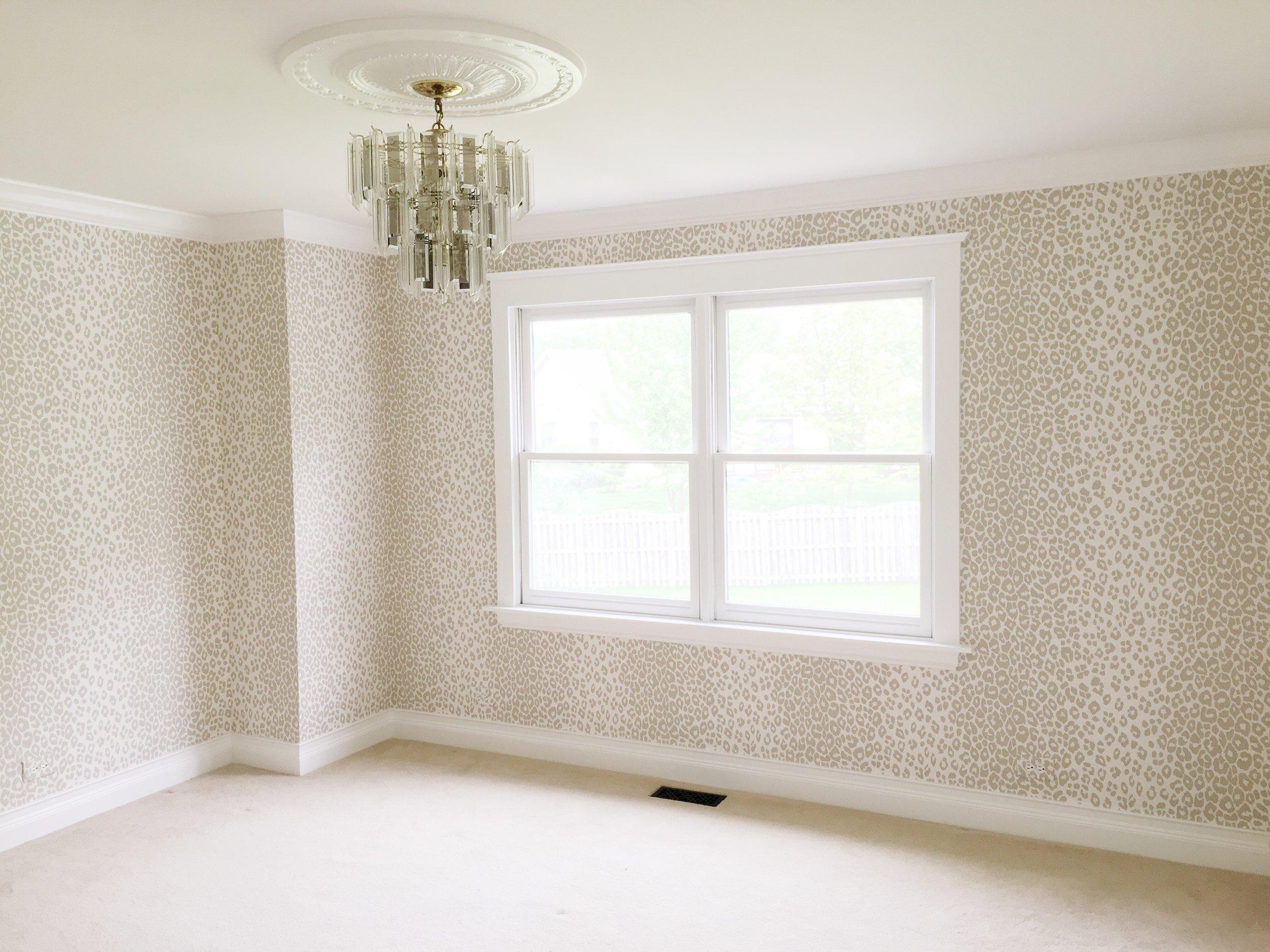 Schumacher Iconic Leopard Wallpaper Tween Girls Room Laura Design Co.