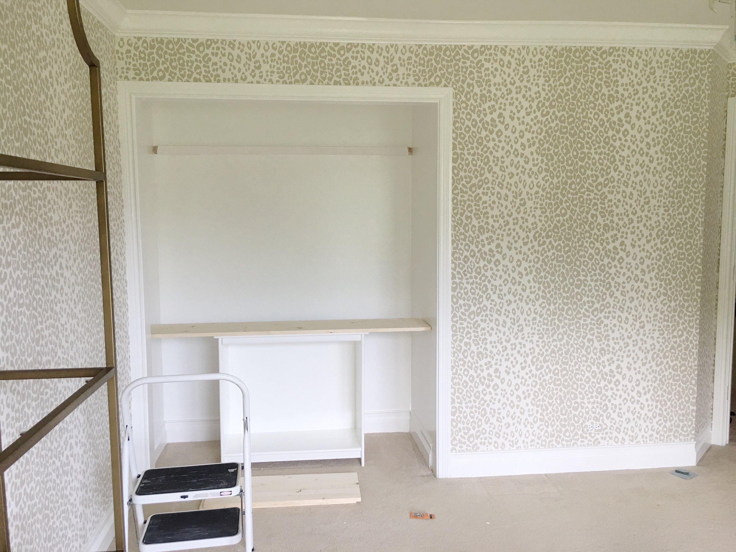 Schumacher Iconic Leopard Wallpaper- Tween Girls Room One Room Challenge | Laura Design Co.